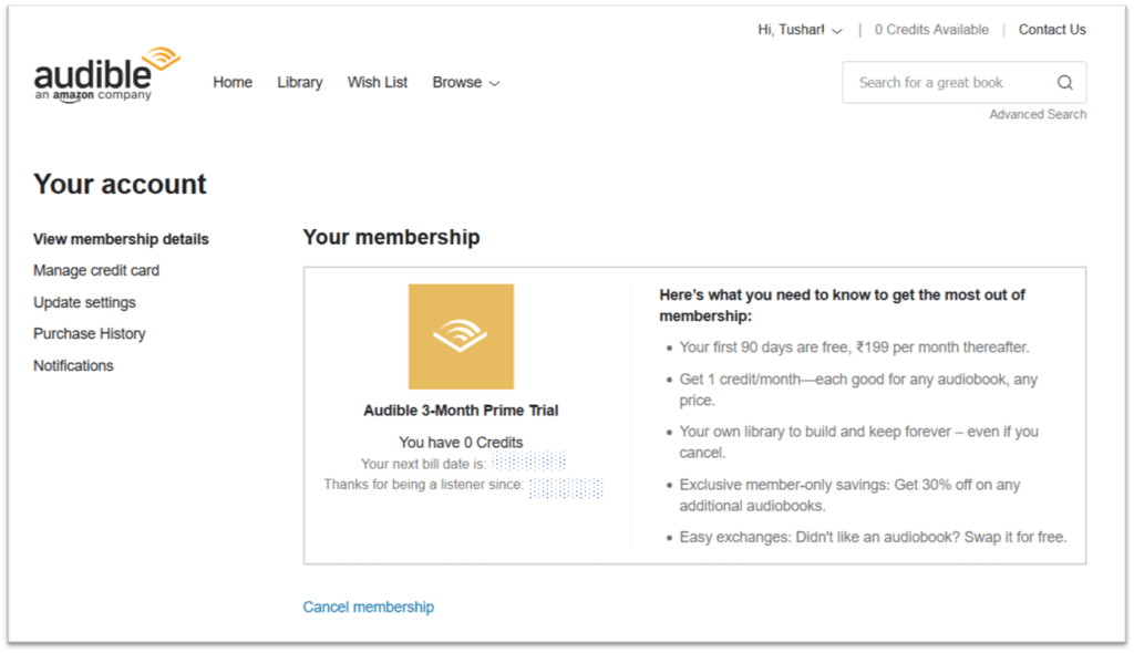 Audible India Subscription Plan